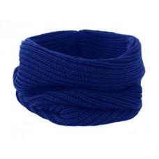 Вязаный шарф-снуд, васильковый