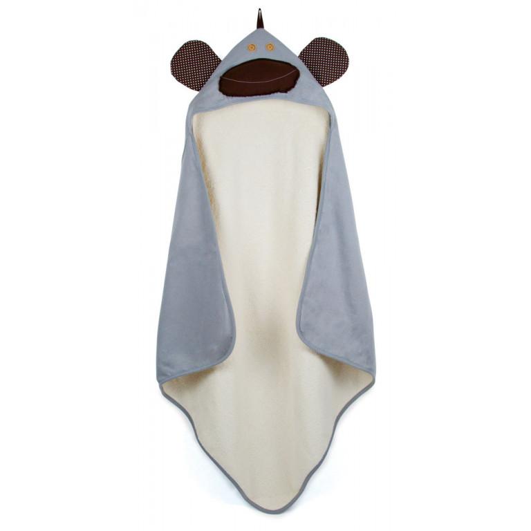 """Полотенце с капюшоном """"Серая обезьянка"""""""