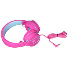 Наушники подростковые с микрофоном и контролем громкости, розовые
