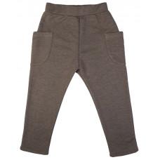 Штаны с накладными карманами, коричневые
