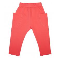 Штаны с накладными карманами, коралловые