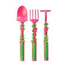 Набор из трех столовых приборов серия Волшебный сад, розовый