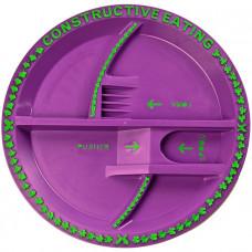 Тарелка серия Волшебный сад, фиолетовый