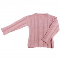 Джемпер фактурной вязки, пудро-розовый