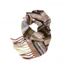 """Мягкий и тёплый шарфик ручного ткачества """"Лес"""""""