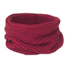 Вязаный шарф-снуд, бордовый светлый