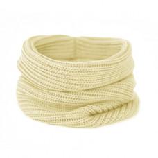 Вязаный шарф-снуд, ванильно-жёлтый