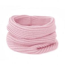 Вязаный шарф-снуд, нежно-розовый