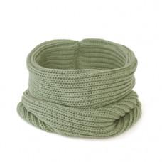 Вязаный шарф-снуд, хаки светлый