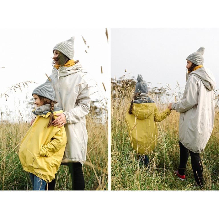 Куртка-парка, взрослая, светло-серая