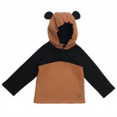 Толстовка Panda Anorak, коричневая с черным
