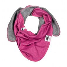 Шарф-косынка, ярко-розовый меланж