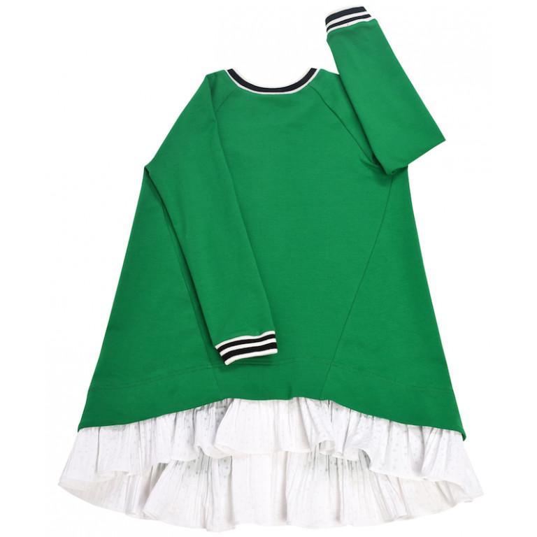 Платье-туника, зеленое