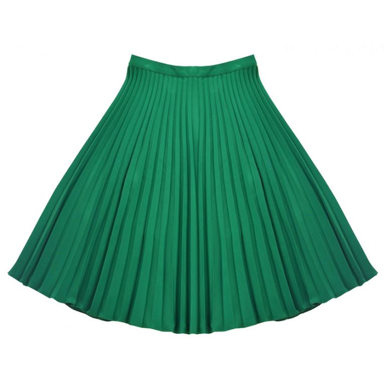 Юбка-плиссе, зеленая