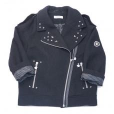 Куртка - косуха, черная со звездами