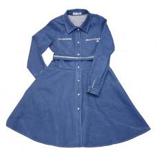 Джинсовое платье - рубашка