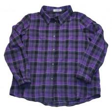 Рубашка в клетку, фиолетовая