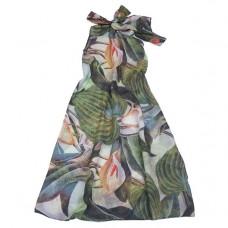 Платье - туника с крупными цветами
