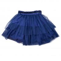 Пышная юбка, синяя