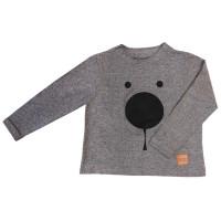 Лонгслив BEAR FACE grey