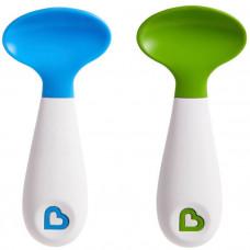 Ложки пластиковые 2 шт, голубой/зеленый
