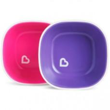 Набор детских цветных мисок 2шт с 6 мес. розовый/фиолетовый