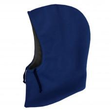 Капюшон двухсторонний, синий с тёмно-серый графит