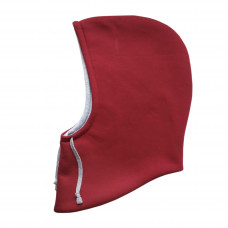 Капюшон двухсторонний, красный с серым меланж