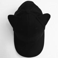 Кепка POMPOM GIRL, чёрная с помпоном