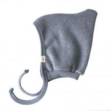 Флисовая шапочка, new born, светло-серый