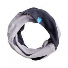 Двухсторонний шарф-снуд, серый+антрацит