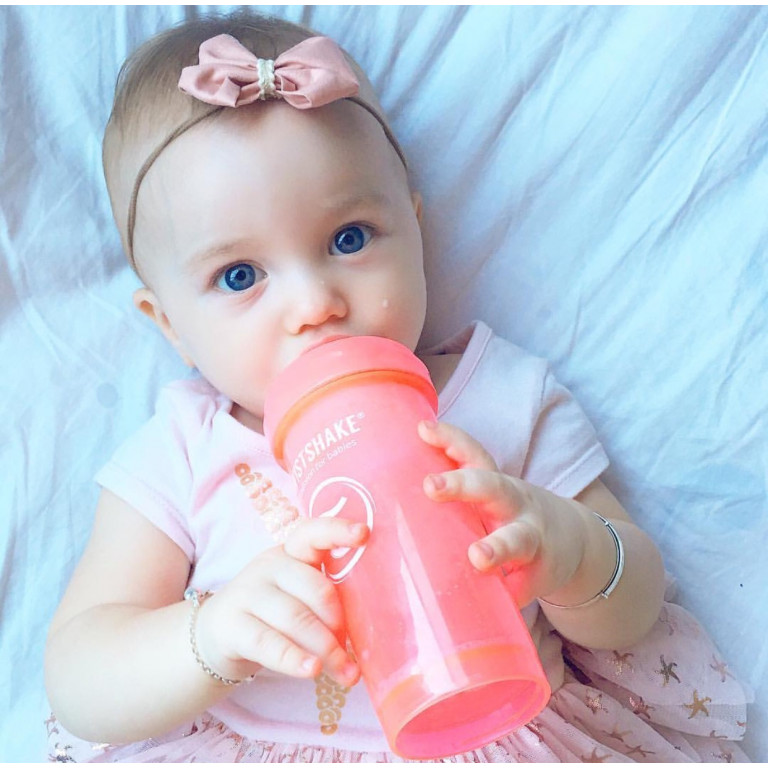 Антиколиковая бутылочка Twistshake для кормления, пастельный розовый