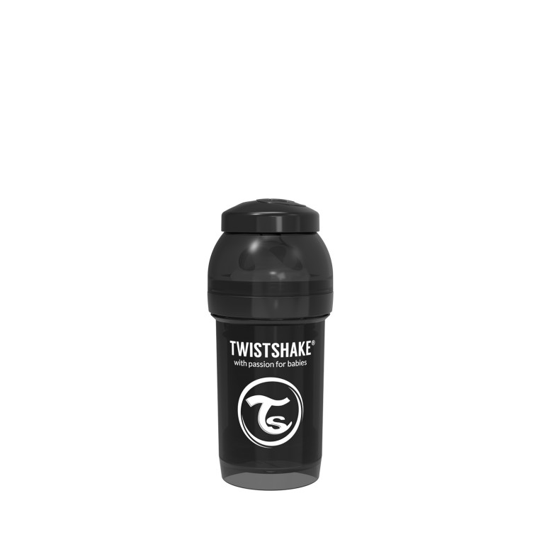 Антиколиковая бутылочка Twistshake для кормления, чёрная