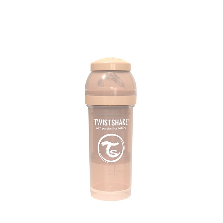 Антиколиковая бутылочка Twistshake для кормления, пастельный бежевый
