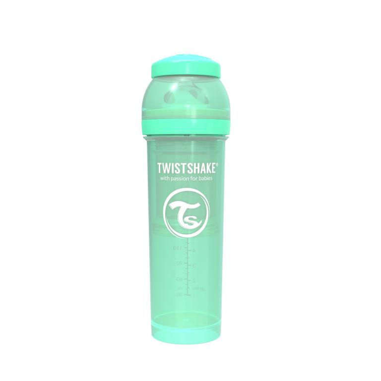 Антиколиковая бутылочка Twistshake для кормления, пастельный зелёный