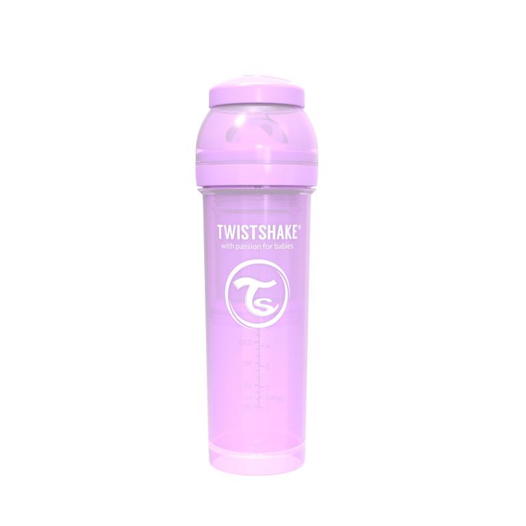 Антиколиковая бутылочка Twistshake для кормления, пастельный фиолетовый