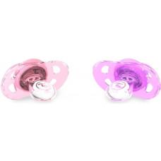 Пустышка Twistshake, пастельный розовый и пастельный фиолетовый
