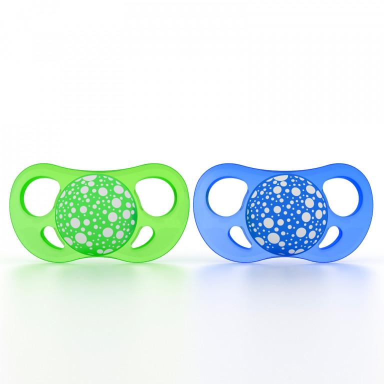 Пустышка Twistshake, сине-зеленая