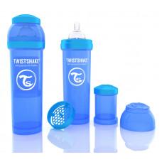 Антиколиковая бутылочка Twistshake для кормления, синяя