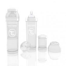 Антиколиковая бутылочка Twistshake для кормления, белая
