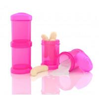 Контейнеры для сухой смеси Twistshake, розовые