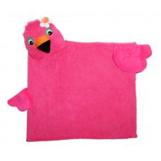 Полотенце с капюшоном для детей Фламинго Френни