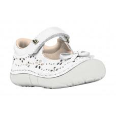 Туфли, белые c бантиком