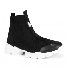 Кроссовки высокие, черные