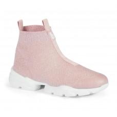 Кроссовки высокие, розовые