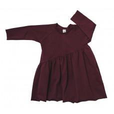 Платье-волан, бургунди