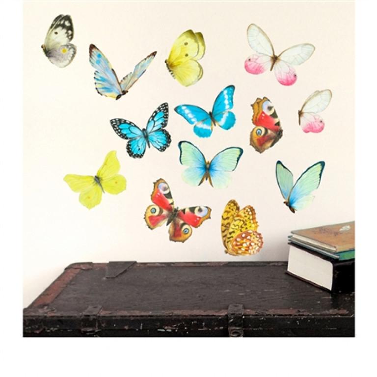 """Интерьерная наклейка """"Бабочки"""""""