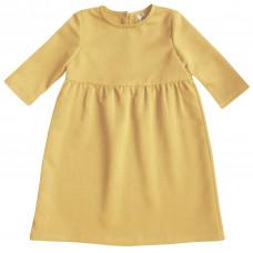 Платье, горчичное