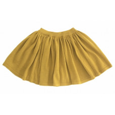 Вязаная юбка, горчичная