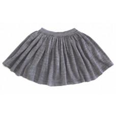 Вязаная юбка, серый меланж